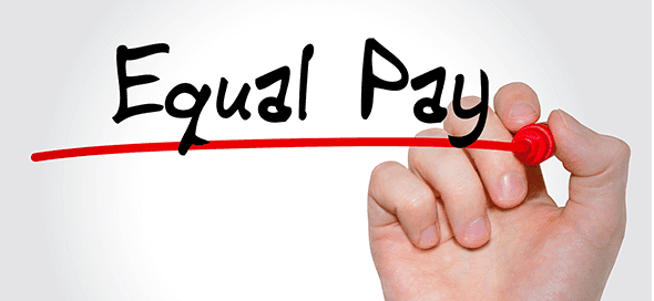 "the words ""equal pay"" underlined in red pen"